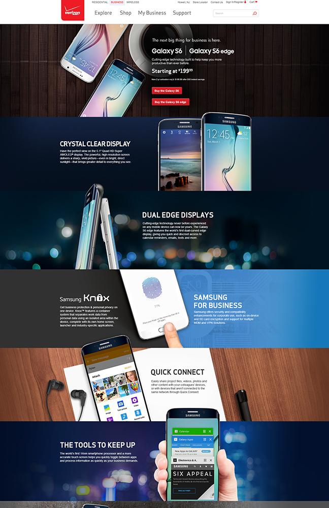 Samsung Landing page